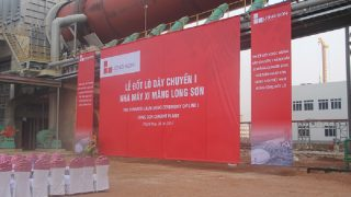 Ceremony of cement production line furnace no. 1 of Long Son Cement