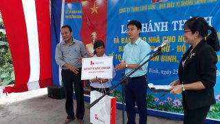 Inauguration and hand over charitable houses to the disadvantaged family.