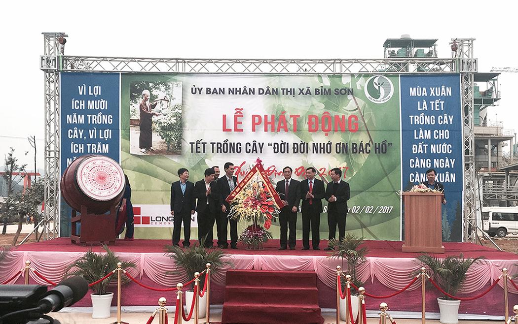 Lễ phát động Tết trồng cây xuân Đinh Dậu 2017 tại Xi măng Long Sơn