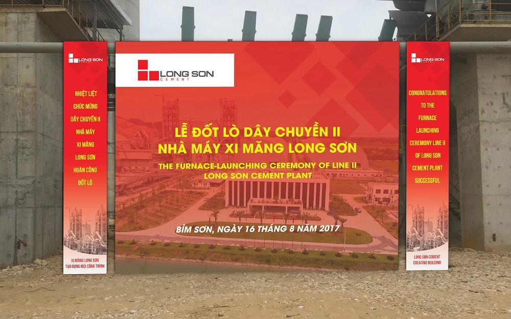 Nhà máy Xi măng Long Sơn đốt lò vận hành dây chuyền II