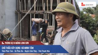 Công trình đổ mái, dầm, cột sử dụng Xi măng Long Sơn tại Thanh Hóa 19/08/2017