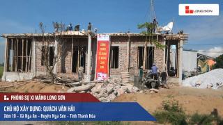 Công trình đổ mái, dầm, cột sử dụng Xi măng Long Sơn tại Nga Sơn, Thanh Hóa 12/09/2017