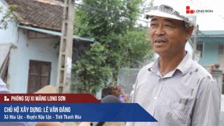 Công trình đổ mái, dầm, cột sử dụng Xi măng Long Sơn tại Hậu Lộc, Thanh Hóa 14/09/2017