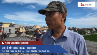 Công trình đổ mái, dầm, cột sử dụng Xi măng Long Sơn tại Hậu Lộc, Thanh Hóa 30/08/2017