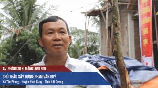 Công trình đổ mái, dầm, cột sử dụng Xi măng Long Sơn tại Hải Dương 30/09/2017