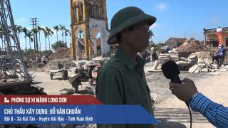 Công trình Nhà thờ Giáo Họ Thánh Phê-rô sử dụng Xi măng Long Sơn để đổ móng tại Nam Định 17.11.2017