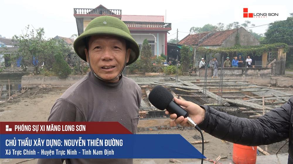 Công trình sử dụng Xi măng Long Sơn để đổ móng tại Nam Định 30.11.2017
