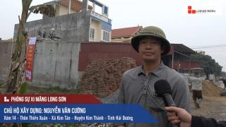 Công trình sử dụng Xi măng Long Sơn để đổ mái, dầm, cột tại Kim Thành, Hải Dương 27.12.2017
