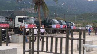 Trạm Ninh Thủy của Xi măng Long Sơn xuất lô hàng đầu tiên ra thị trường thành công.