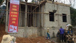 Công trình sử dụng Xi măng Long Sơn để đổ móng, đổ mái tại Thanh Hóa 12.01.2018