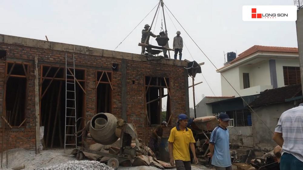 Công trình sử dụng Xi măng Long Sơn để đổ móng, đổ mái tại Đông Sơn, Thanh Hóa 17.01.2018