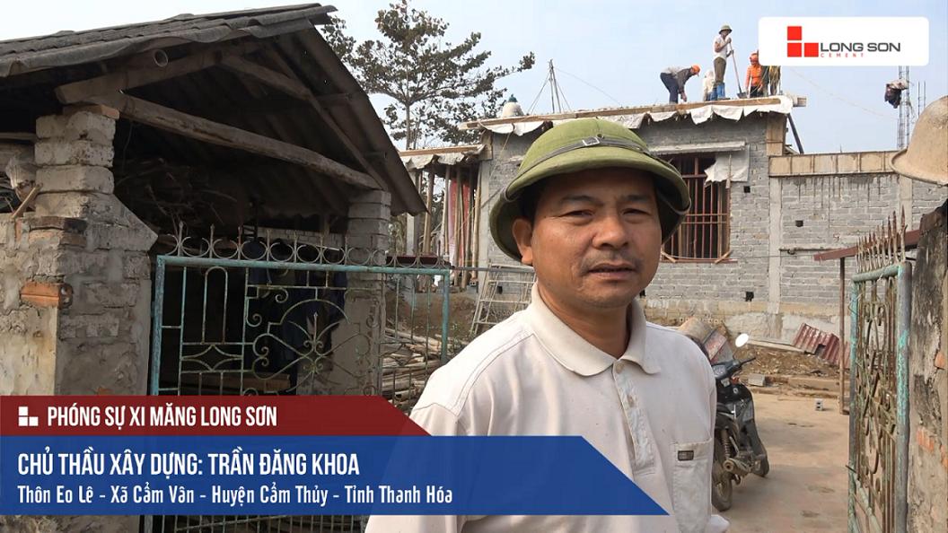 Công trình sử dụng Xi măng Long Sơn để đổ móng, đổ mái tại Thanh Hóa 01.02.2018