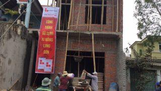 Công trình sử dụng Xi măng Long Sơn để đổ móng, đổ mái tại Yên Định, Thanh Hóa 02.02.2018