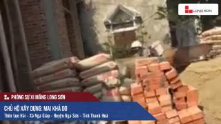 Công trình sử dụng Xi măng Long Sơn để đổ móng, đổ mái tại Thanh Hóa 03.03.2018
