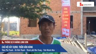 Công trình sử dụng Xi măng Long Sơn tại Khánh Hòa ngày 23.04.2018