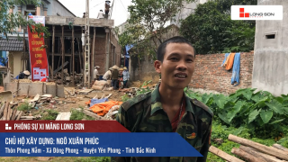 Phóng sự công trình sử dụng Xi măng Long Sơn tại Bắc Ninh 06.05.2018