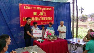 Công ty Xi măng Long Sơn – Trao tặng Nhà tình nghĩa tại Huyện Ngọc Lặc – Thanh Hóa