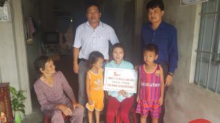 Xi măng Long Sơn – Trao quà hỗ trợ Gia đình có hoàn cảnh khó khăn.