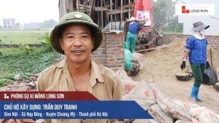 Phóng sự công trình đổ mái, dầm, cột sử dụng Xi măng Long Sơn tại Hà Nội 14.07.2018