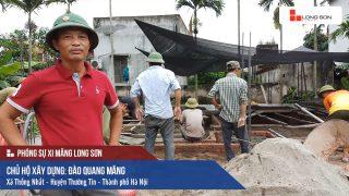Phóng sự công trình đổ mái, dầm, cột sử dụng Xi măng Long Sơn tại Hà Nội 16.07.2018