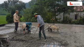 Phóng sự công trình đổ mái, dầm, cột sử dụng Xi măng Long Sơn tại Hà Nội 18.07.2018