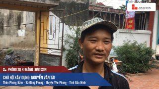 Phóng sự công trình đổ mái, dầm, cột sử dụng Xi măng Long Sơn tại Bắc Ninh 09.07.2018