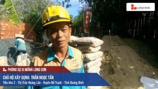 Phóng sự công trình đổ mái, dầm, cột sử dụng Xi măng Long Sơn tại Quảng Bình 09.07.2018