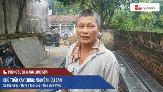 Phóng sự công trình sử dụng Xi măng Long Sơn tại Vĩnh Phúc 08.07.2018