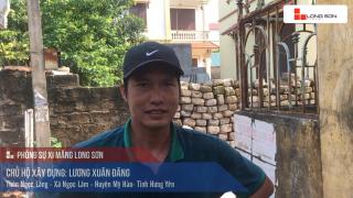 Công trình đổ mái, dầm, cột sử dụng Xi măng Long Sơn tại Hưng Yên ngày 23.07.2018