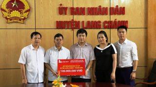 Công ty XMLS: hỗ trợ 100 triệu đồng cho nhân dân huyện Lang Chánh bị thiệt hại do mưa lũ