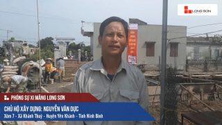 Phóng sự công trình đổ mái, dầm, cột sử dụng Xi măng Long Sơn tại Ninh Bình ngày 09.08.2018