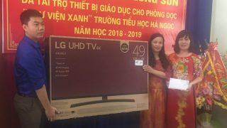 Công ty Xi măng Long Sơn – Hỗ trợ xây dựng thư viện xanh.