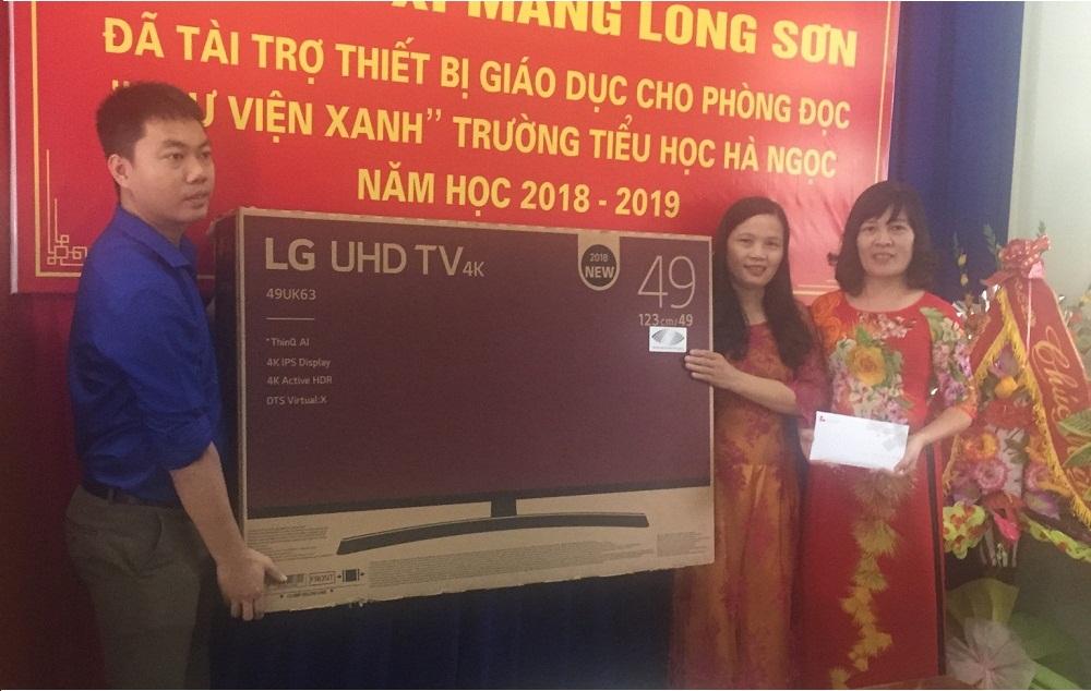 Công ty Xi măng Long Sơn – Hỗ trợ xây dựng thư viện xanh cho Trường học.