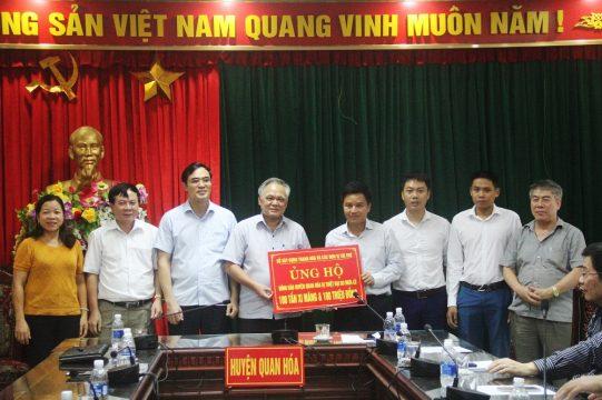 Xi măng Long Sơn – Chung tay khắc phục thiệt hại mưa lũ địa bàn Quan Hóa – Mường Lát