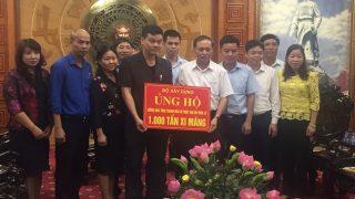 Xi măng Long Sơn – Hỗ trợ khắc phục thiệt hại mưa lũ tại Thanh Hóa.