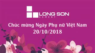 Công ty Xi măng Long Sơn – Chúc mừng ngày Phụ nữ Việt Nam 20/10.