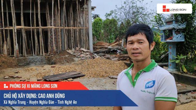 Phóng sự công trình sử dụng Xi măng Long Sơn tại Nghệ An 23.01.2018