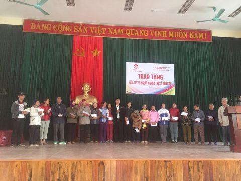 Xi măng Long Sơn – Chung tay chăm lo tết cho người nghèo Xuân Kỷ Hợi.