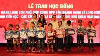 Công ty Xi măng Long Sơn trao 113 suất học bổng cho học sinh có hoàn cảnh đặc biệt khó khăn