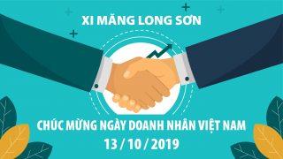 Công ty Xi măng Long Sơn – Chúc mừng ngày doanh nhân Việt Nam 13/10.