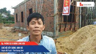 Phóng sự công trình sử dụng Xi măng Long Sơn tại Quảng Bình 06.12.2019
