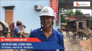 Phóng sự công trình sử dụng Xi măng Long Sơn tại Nghệ An 05.07.2020