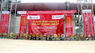 Xi măng Long Sơn nhóm lò chính thức đưa dây chuyền III vào vận hành.