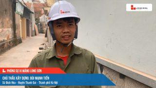 Phóng sự công trình sử dụng Xi măng Long Sơn tại Hà Nội 22.01.2021