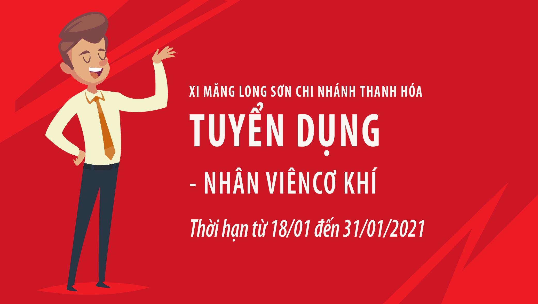 Công ty Xi măng Long Sơn – Thông báo tuyển dụng nhân viên Cơ khí