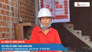 Phóng sự công trình sử dụng Xi măng Long Sơn tại TP. Hồ Chí Minh 08.05.2021