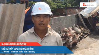 Phóng sự công trình sử dụng xi măng Long Sơn tại Hải Dương ngày 01/07/2021