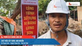 Phóng sự công trình sử dụng xi măng Long Sơn tại Hà Tĩnh ngày 26/07/2021