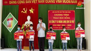 Công ty xi măng Long Sơn trao học bổng cho học sinh có hoàn cảnh đặc biệt khó khăn.