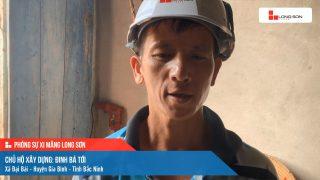 Phóng sự công trình sử dụng xi măng Long Sơn tại Bắc Ninh ngày 22/09/2021
